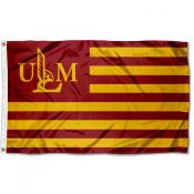 UL Monroe Warhawks American Nation Flag
