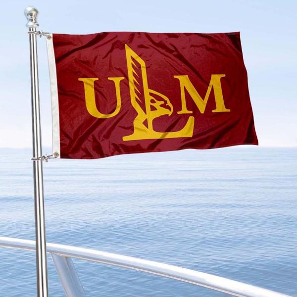 UL Monroe Warhawks Boat Nautical Flag