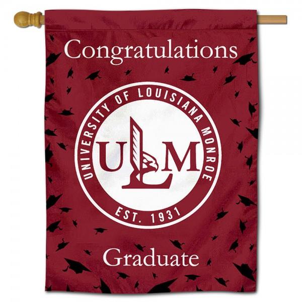 UL Monroe Warhawks Graduation Banner
