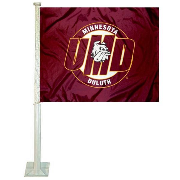 UMD Bulldogs Car Flag