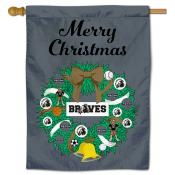 UNC Pembroke Braves Christmas Holiday House Flag