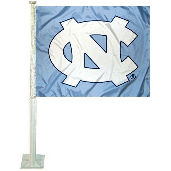 UNC Tar Heels Car Flag