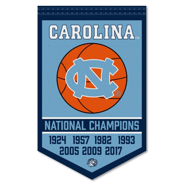 UNC Tar Heels College Basketball National Champions Banner
