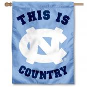 UNC Tar Heels Country House Flag