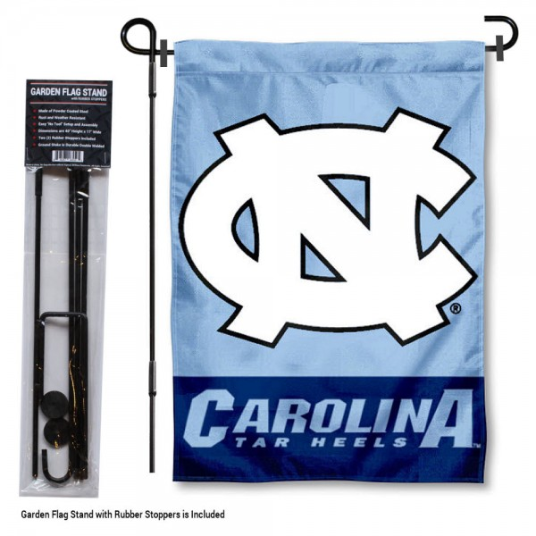 UNC Tar Heels Garden Flag and Holder