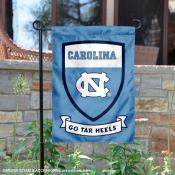UNC Tar Heels Shield Garden Flag