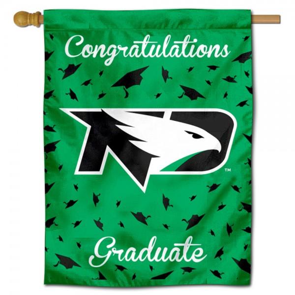 UND Fighting Hawks Graduation Banner