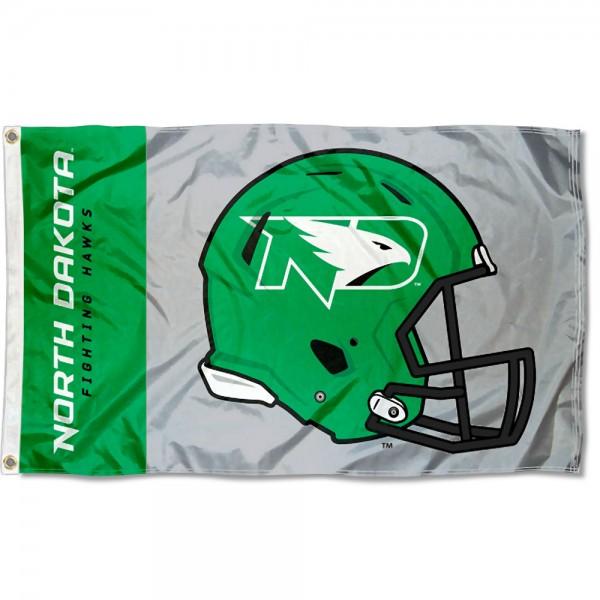 UND Fighting Hawks Helmet Flag