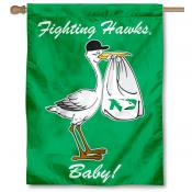 UND Fighting Hawks New Baby Banner