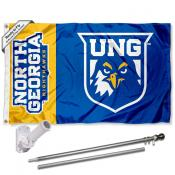 UNG Nighthawks Flag and Bracket Flagpole Kit