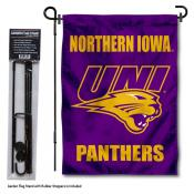 UNI Panthers Garden Flag and Holder
