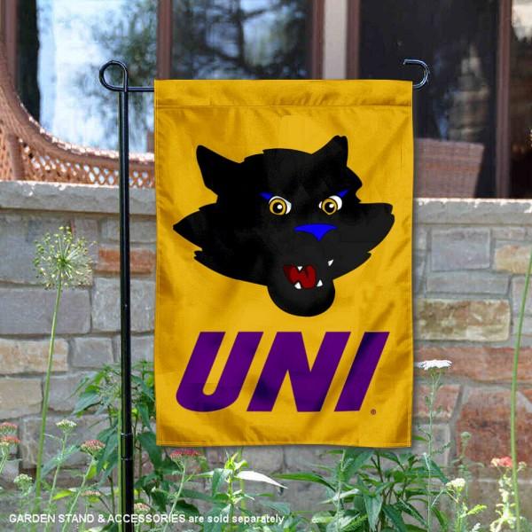 UNI Panthers Mascot TC Panther Garden Flag