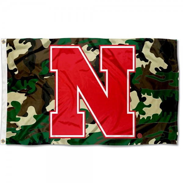 Univeristy of Nebraska Camo Grommet Flag