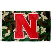 Univeristy of Nebraska Camo Grommet Flag