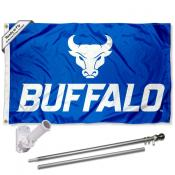 University at Buffalo Flag and Bracket Flagpole Kit