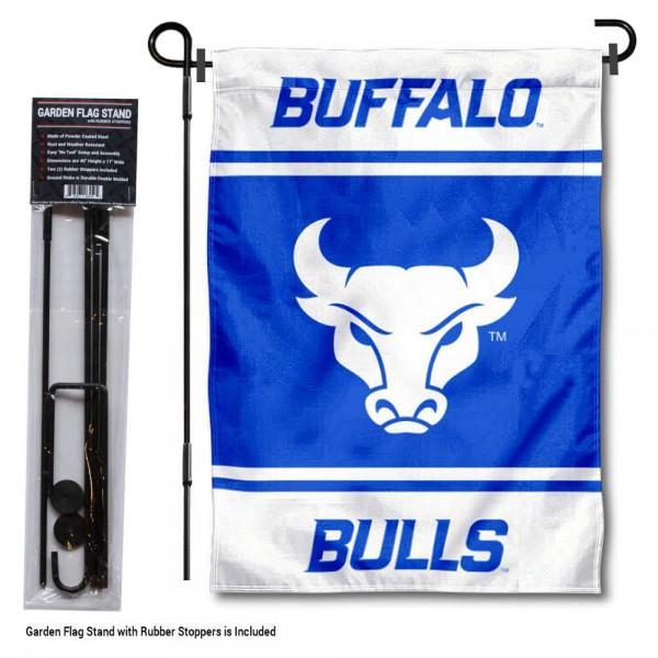 University at Buffalo Garden Flag and Yard Pole Holder Set