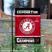 University of Alabama 2020 Football CFP National Champions Double Sided Garden Flag