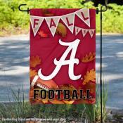University of Alabama Crimson Tide Fall Leaves Football Double Sided Garden Banner