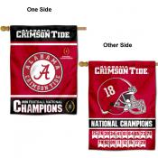 University of Alabama Eighteen Time College Football Champions House Flag