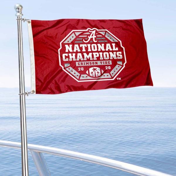 University of Alabama Football Playoff Champions Boat Nautical Flag