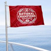 University of Alabama Football Playoff Champions Boat Nautical Flag