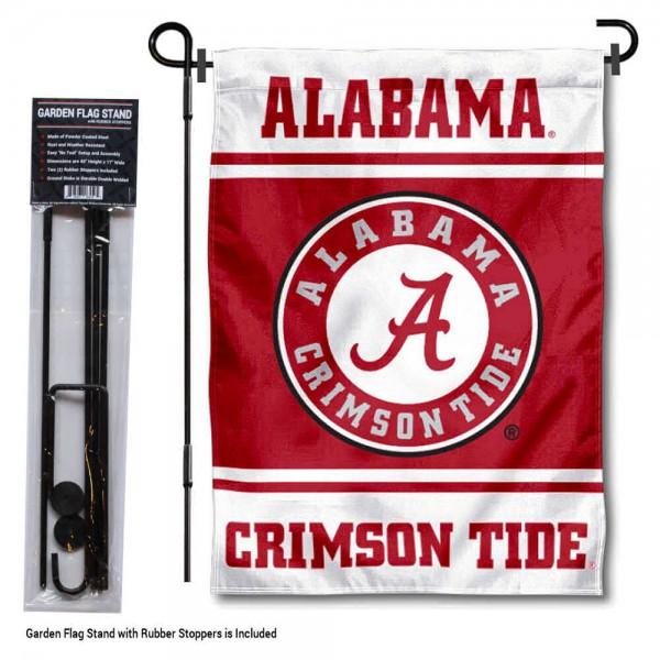 University of Alabama Garden Flag and Yard Pole Holder Set