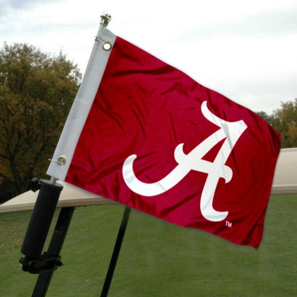 University of Alabama Golf Cart Flag