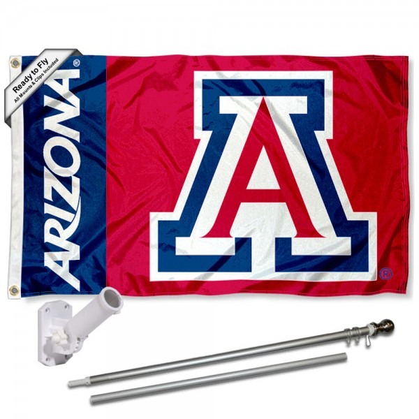University of Arizona Flag and Bracket Flagpole Kit