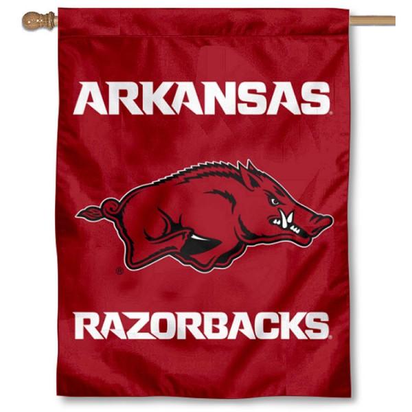 University of Arkansas Logo House Flag