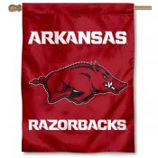 University of Arkansas Logo House Flag