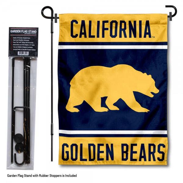 University of California Garden Flag and Yard Pole Holder Set