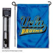 University of California Los Angeles Garden Flag and Yard Pole Holder Set