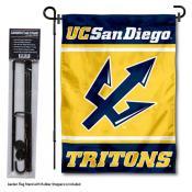 University of California San Diego Garden Flag and Yard Pole Holder Set