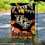 University of Central Florida Knights Fall Leaves Football Double Sided Garden Banner