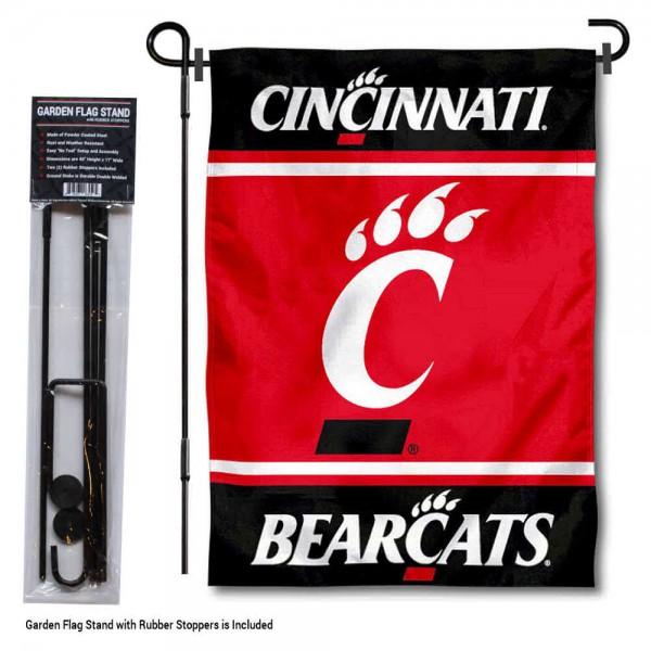 University of Cincinnati Garden Flag and Yard Pole Holder Set