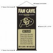 University of Colorado Buffaloes Man Cave Fan Dorm Wall Banner