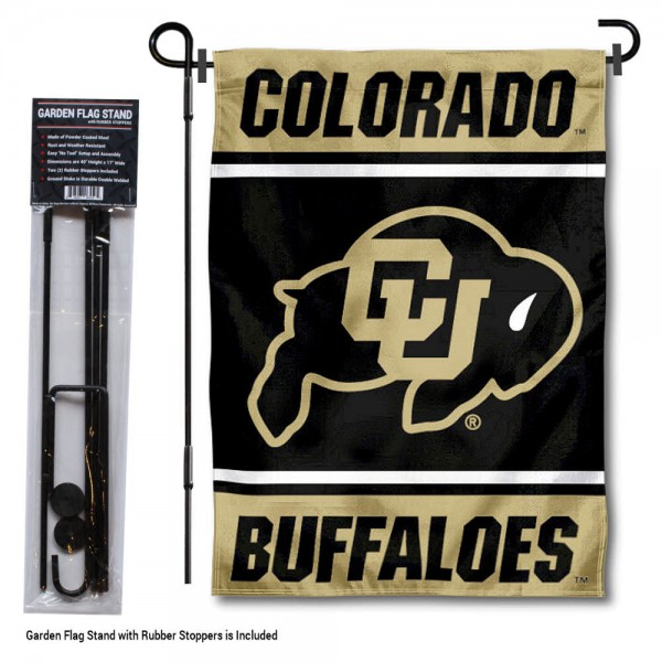 University of Colorado Garden Flag and Yard Pole Holder Set