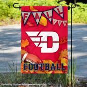 University of Dayton Flyers Fall Leaves Football Double Sided Garden Banner