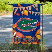University of Florida Gators Fall Leaves Football Double Sided Garden Banner