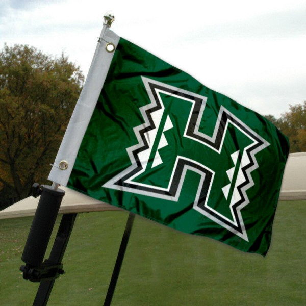 University of Hawaii Golf Cart Flag