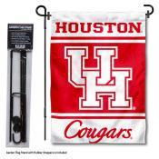 University of Houston Garden Flag and Yard Pole Holder Set