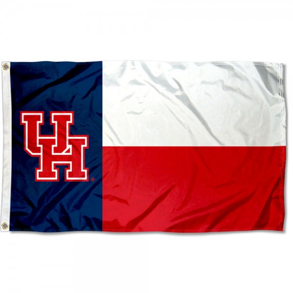 University of Houston State of Texas Flag
