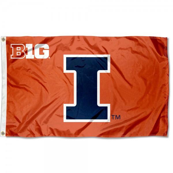 University of Illinois Big 10 Flag
