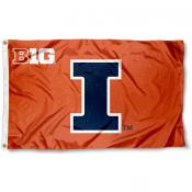 University of Illinois Big 10 Flag