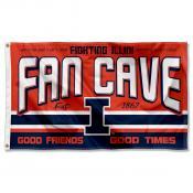 University of Illinois Fighting Illini Man Cave Dorm Room 3x5 Banner Flag