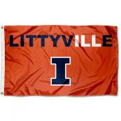 University of Illinois Littyville Logo Flag