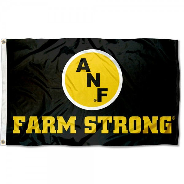 University of Iowa Farm Strong Logo Flag