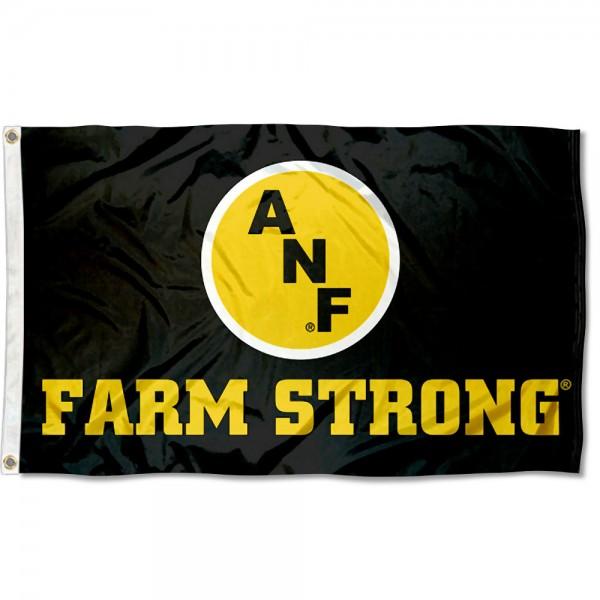 University of Iowa Farm Strong Logo Flag