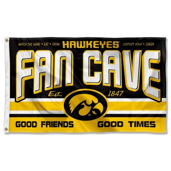 University of Iowa Hawkeyes Man Cave Dorm Room 3x5 Banner Flag