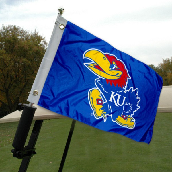 University of Kansas Golf Cart Flag